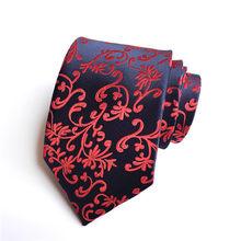 Бренд mantieqingway Галстуки для Для мужчин Свадебная вечеринка полиэстер, шелк Пейсли и печатных галстук 8 см галстук Официальное Бизнес костюм ...(China)