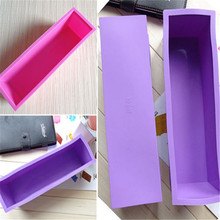 Fashion New Perfect Soap Brick Pastry Bread Loaf Cake Silicone Rectangle Bakeware 1.2L Free shipping(China (Mainland))
