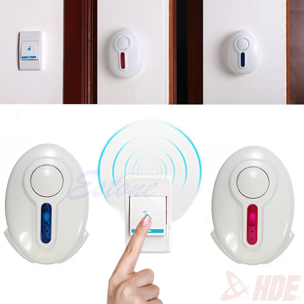 Wireless Digital LED Doorbell Remote Control 2 Receiver Door Bell 36 Chime Songs