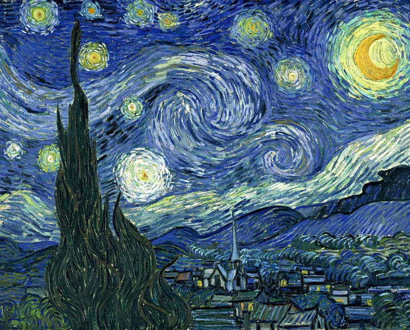 printed Masters Starry Night Vincent Van Gogh prints reputation oil painting on canvas wall art pictures for living room(China (Mainland))
