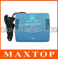 PAL Television System TV Signal Standard 220V EU Plug Audio Video Signal Converter AV To RF Modulator TV Free Shipping(China (Mainland))