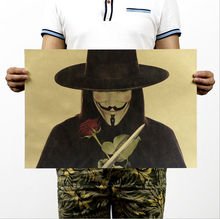 [H236] V for Vendetta / B models / Classic Poster / kraft paper poster painting core 51x35.5cm(China (Mainland))