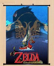 Wall Scroll The Legend of Zelda the wind waker cosplay Home Decor Poster