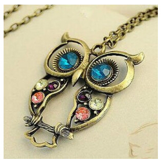 x15 2015 Hot New Fashion Hot Selling Retro Color Block Drill Hollowing Carved Cute Owl Mao