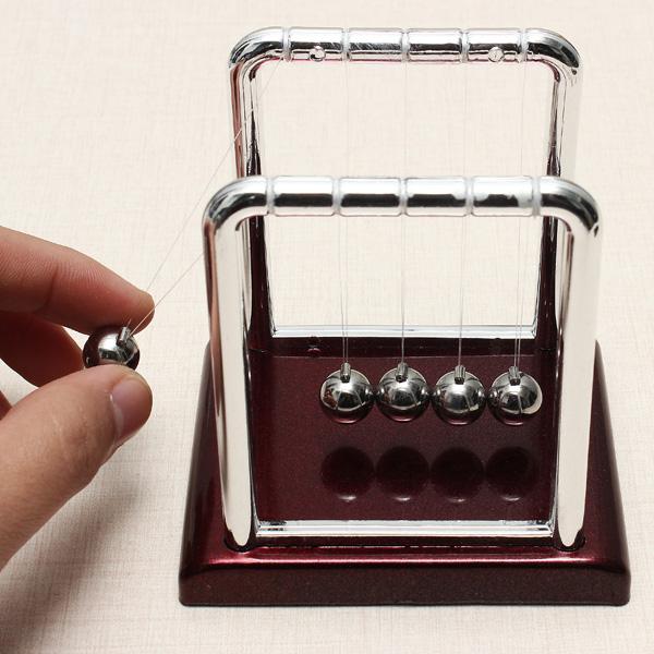 Hot Sale Early Fun Development Educational Desk Toy Gift Newtons Cradle Steel Balance Ball Physics Science Pendulum S42(China (Mainland))