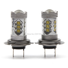 Buy 2PCS High Power H7 LED Car Auto Driving Fog Tail Headlight Light Lamp Bulb White 12V Super Bright for $24.80 in AliExpress store