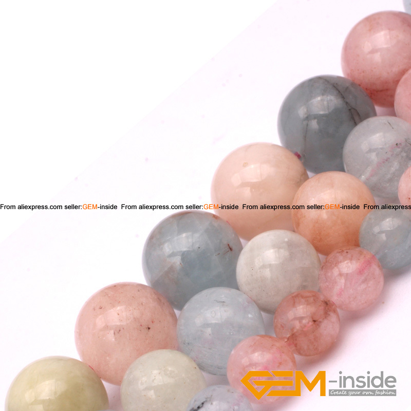 Round Morgan Stone Jewelry Loose Beads Natural Stone Beads DIY Beads For Bracelet Or Necklace Making Strand 15 Free Shipping<br><br>Aliexpress