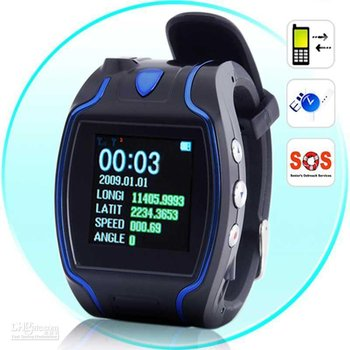 Wholesale - GPS Watch Tracker Cellphone Child Locator GPS watch Mobile phone GPS TrackerAutism Pets Dog Sample