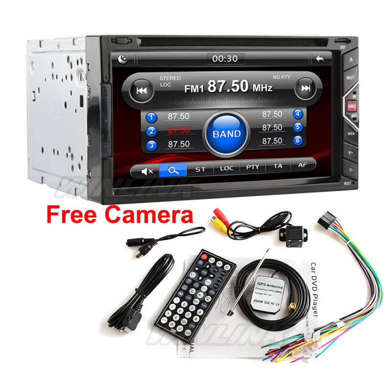 """Free Camera Gesture Control Universal 2 Two Din 6.92"""" Touch Screen Car DVD Player GPS Navigation Radio IPOD Stereo USB BT TV(China (Mainland))"""