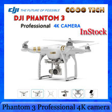 IN Stcok Original DJI Phantom 3 Professional Drone Quadcopter RTF With 4K Camera And 3 Gimbal ,GPS system, live HD view