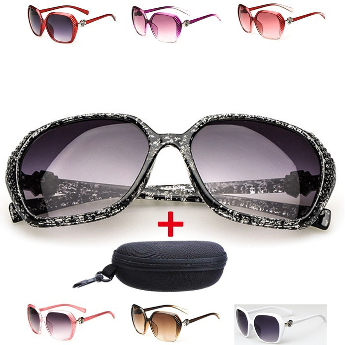 [Sales mix]European and American retro sunglasses carved roses design Reception exclusive fashion accessories+Sonnenbrille Case(China (Mainland))