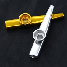 Kazoo Metal Golden Harmonica Mouth Flute Kids Educational Musical Instrument New(China (Mainland))