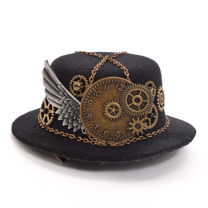 Retro Victorian Steampunk Mini Top Hat