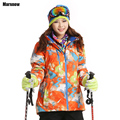 Dropshipping ski Coats Thicken New 2016 print warm thermal waterproof windproof Collar Hooded Outwear winter jacket
