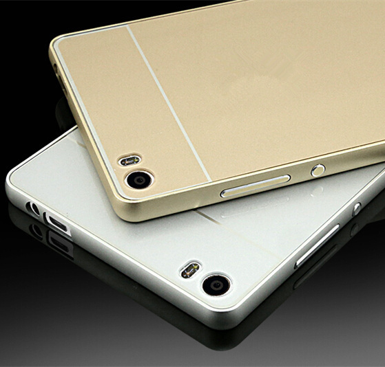 Luxury Metal Aluminum Frame Acrylic Back Cover 2 1 HUAWEI Ascend P8 Gold Case Phone Cases 2015 New - Ebayshop Electronic Co., Ltd store