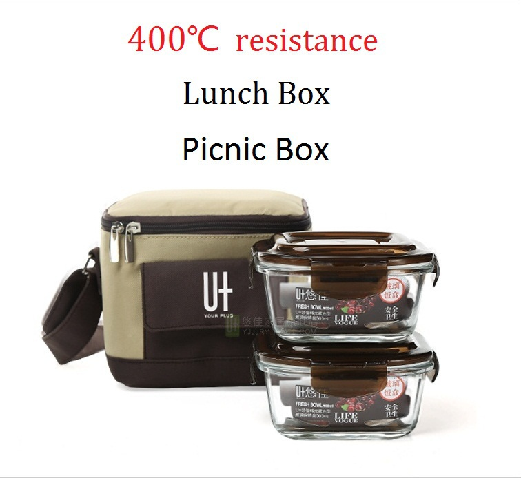 buy 400 degree resistance glass lunch box microwave oven bento box lancheira. Black Bedroom Furniture Sets. Home Design Ideas