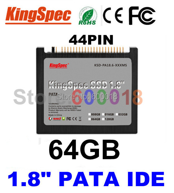 """L Kingspec 1.8"""" inch 44PIN PATA IDE SSD Solid State Disk ssd 64GB Hard Drive Laptop For IBM X40 X41 X41T Internal Hard Drives(China (Mainland))"""