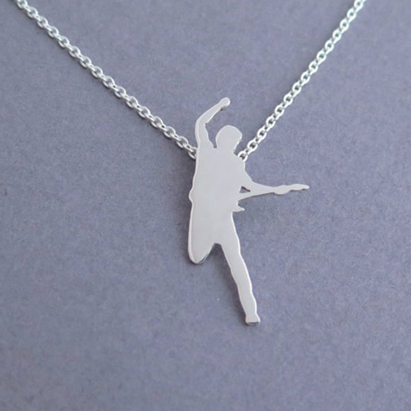 free shipping wholesale Bruce springsteen pendant necklace - the boss fan gift - plating silver jewelry(China (Mainland))
