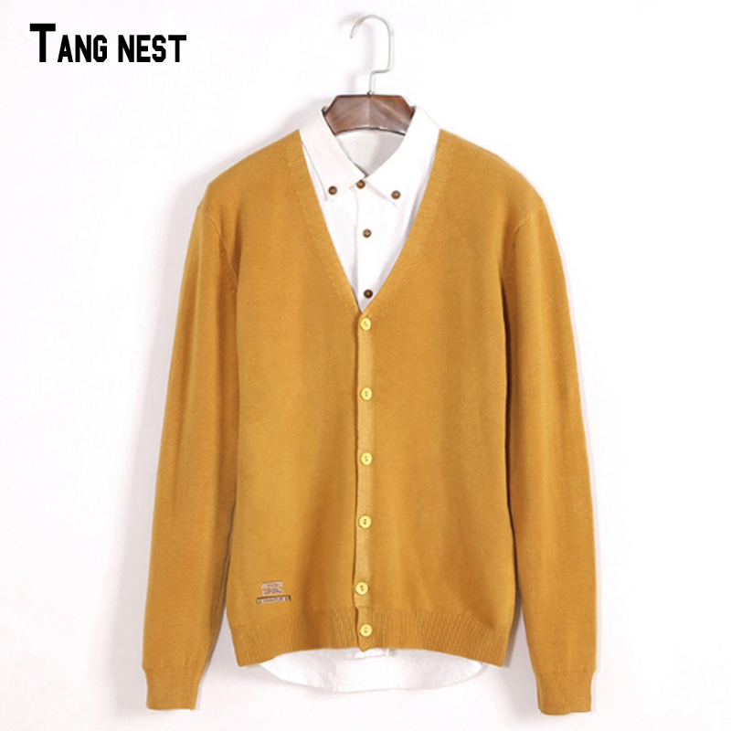 2016 New Arrival Spring Autumn Men's Fashion High Quality Solid V-Neck Casual Mens Cardigan Sweaters MZL596(China (Mainland))