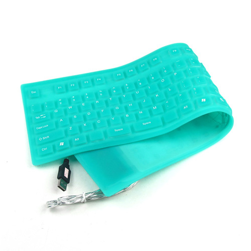 10pcs/lot USB 2.0 Roll-up Silicone Foldable Flexible Waterproof Keyboard For PC Laptop Notebook(China (Mainland))