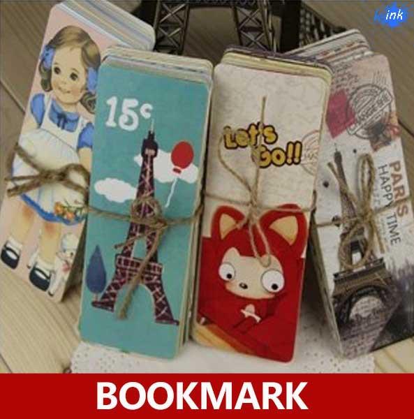 Four series can be chosen , Cartoon / Lovely Girl / Vintage Tower / Kawaii fox paper bookmark / book marks/Book holder/bookband(China (Mainland))