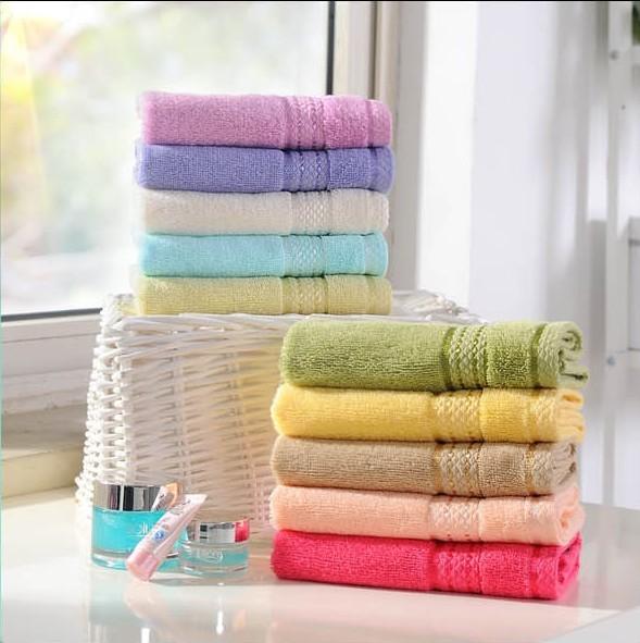 Aussino 100% cotton plain bath towel big towel classic series towel multicolor(China (Mainland))