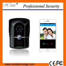 New wireless video door phone video intercom remote control mobile control WIFI TCP video door phone with IR nigh version(China (Mainland))