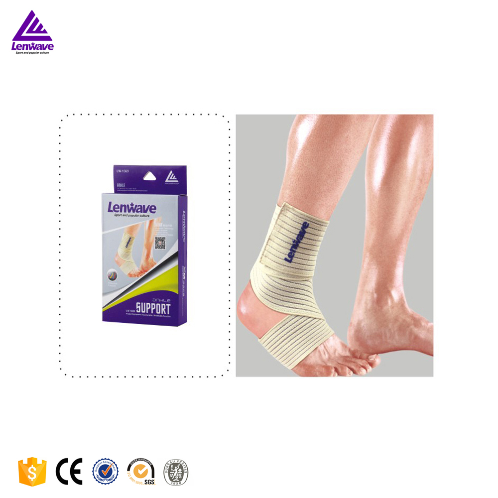 Lenwave Brand Adjustable Ankle Support Breathable Elastic Brace Wrap Band Gym Football/Basketball Ankle Guard(China (Mainland))