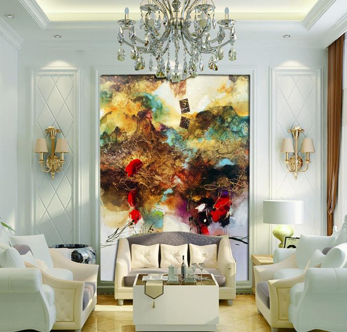 80*160cm Entrance mural / European painting abstract Cheap Modern Paintings Poster Style Oil Paintings Home Decoration Room(China (Mainland))