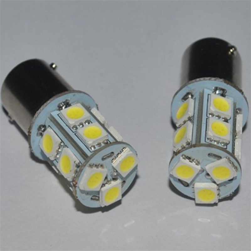Car 1156 BA 15S Globes 13 LED Brake Turn Stop Tail Light Lamp Bulbs New DC 12V Red Light(China (Mainland))