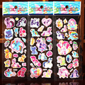 Hot Sale 10 pcs lot 3D My Little Baoli Poni Children Cartoon Cute PVC Affixed Stickers