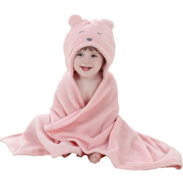 Ужин мягкий бархат симпатичные животные-форма мультфильм для детей с капюшоном полотенце ...