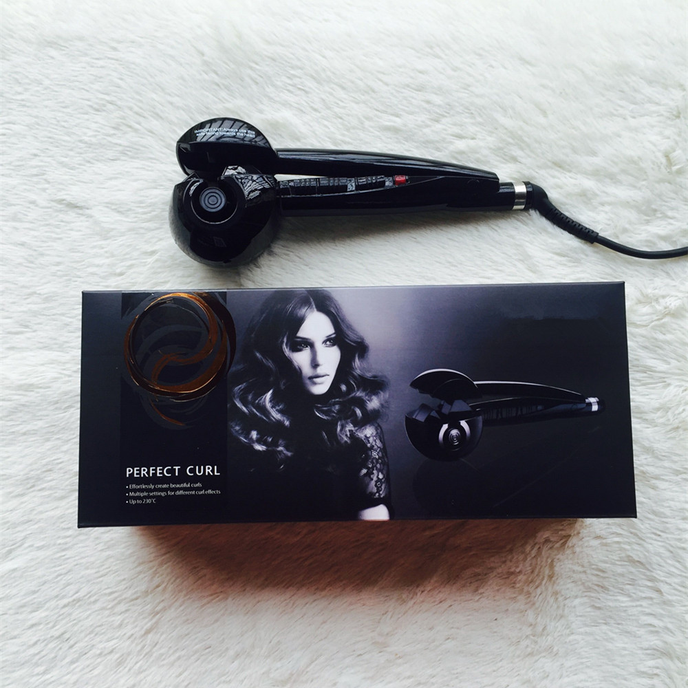 Free Shipping Tourmaline Auto Hair Curler Hair Care Styling Tools Ceramic Wave Hair Roller Magic Curling Iron Hair Styler(China (Mainland))