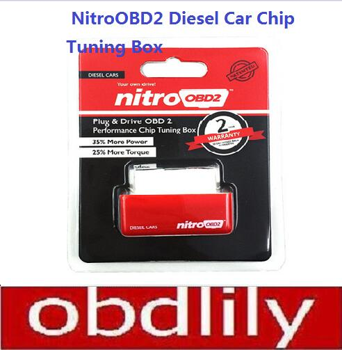 Best Nitro OBD2 Chip Tuning Box Plug & Drive NitroOBD2 For Diesel Car More Power&Torque Nitro OBD Diesel Box With Retailing Box(China (Mainland))