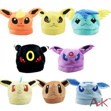 Buy Cartoon plush toys Eevee Snorlax Winter Hats Pikachu Cosplay soft Plush Cap kawaii Plush Hat bay girl for $5.68 in AliExpress store