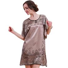 2015 Топ Мода Лето Стиль Банный Халат Longue Пижамы Для Женщин Плюс Размер Повседневная Платье Ночная Рубашка 10107(China (Mainland))