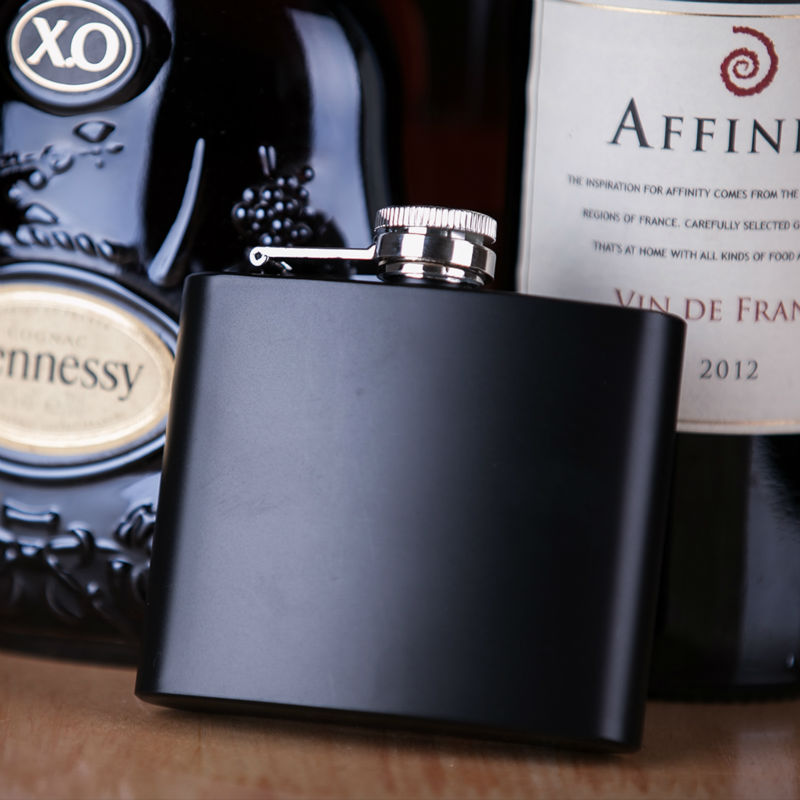 Portable Inferior smooth Flask 5 oz Food Grade Stainless Steel Hip Flask drinkware Liquor Whiskey Bottle gifts(China (Mainland))