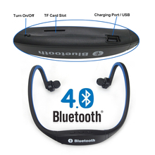 Sport Wireless Handfree Bluetooth 4.0 Original S9 Neckband Earphone Earbuds Support TF Card for Samsung iPhone Phones