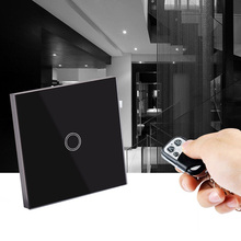 1 Gang Remote Touch Control Smart Light Switch 220V Wiring Free EU Black NG4S(China (Mainland))