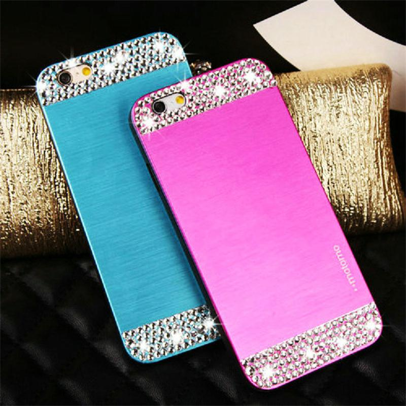 Luxury Business Brushed Metal Aluminium material case For LG G2 phone Diamond bling protective cover(China (Mainland))