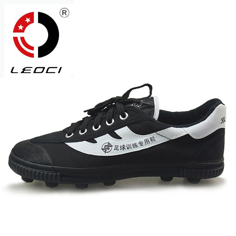 LEOCI 2016 Extra Wide Boys Mens Football Boots Soccer Cleats Trainers Special Training Soccer Shoes Chaussures Football Men(China (Mainland))