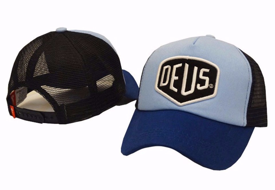 2016 Brand New! Deus Ex Machina Baylands Trucker Snapback Men Women Bboy Girls Mesh Sports Hat Hiphop God Pray Ovo Cap Black