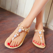 Sweet Creeper Diamond Elastic Band Flip Flops Causal Huarache Summer Style Beach Shoes Womens Flats Woman Sandals Top Size 44