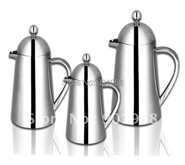 Bar coffee shop stainless steel double walls french press pot coffee pot with filter-800ml(Hong Kong)