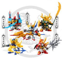 Japan Anime action figures Guanyu SD/BB GUNDAM Customizable plastic model kits Boy toy child Puzzle assembled Robot lovers P231