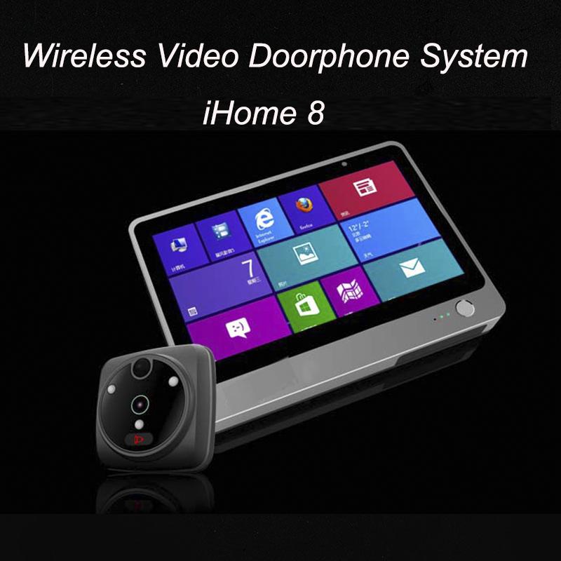 24 жк-монитор визуального дверного глазка глазок проводной просмотра камеры видео