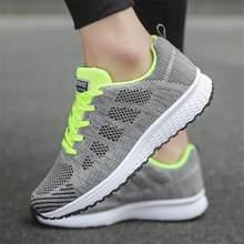Phụ Nữ giao hàng nhanh giản dị giày thời trang Đi Bộ thoáng khí lưới ren lên giày flat giày thể thao nữ 2018 tenis feminino(China)
