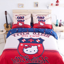 Cute Character Hello Kitty Series Kids Comforter Bedding Sets Kids Queen / Double / Baby Size Sanding Reactive Printing 15 types(China (Mainland))
