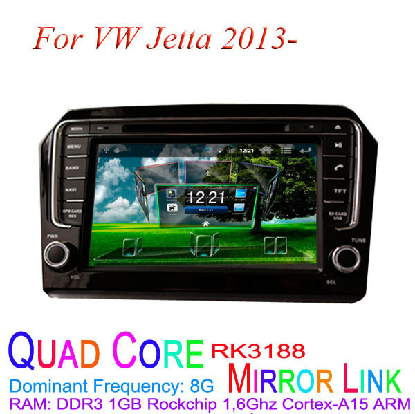 1024*600 Quad Core Android 4.4.4 Fit Volkswagen VW Jetta 2013 2014 2015 Car DVD Player GPS TV 3G Radio(China (Mainland))