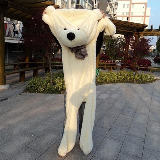 Super wholesale 300cm Huge size teddy bear skin plush toy high quality low price holiday gifts large Toy free shipping(China (Mainland))